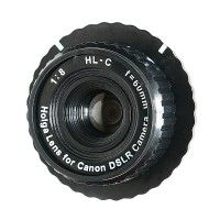 Holga Lens for Canon DSLR Camera HL-C    I have just made one of these.  It utilizes the lens from an old Holga (toy) camera so you can shoot with it on a Canon DSLR.