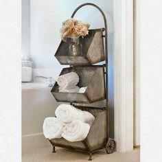 "$228 · August Grove Lavallie 13"" W x 42"" H Bathroom Shelf #countryHomeDecor #diyrusticdecor"