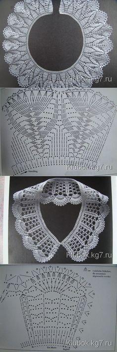 Extraordinary beauty collars knitted hook. | Ball