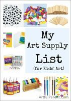 Where and what art supplies to buy for kids.