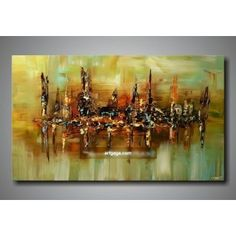 This is a very unique handpainted modern #art in #abstract style for room or home decoration. If you are a fan of #paintings, this is probably what you should get for your home. #HomeDecor