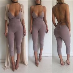 Aliexpress.com : Buy Sexy Tight Solid Sleeveless Deep V Neck Sling Slim Hip Rompers Womens Jumpsuit Overalls For Women Catsuit Combinaison Femme from Reliable jumpsuit jeans suppliers on Fuedage. Store
