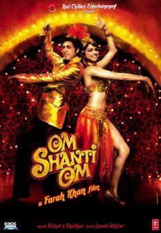 """Om Shanti Om"" is a 2007 Bollywood romantic-reincarnation film directed and choreographed by Farah Khan. Om Shanti Om, Best Bollywood Movies, Watch Bollywood Movies Online, Streaming Vf, Streaming Movies, Deepika Padukone, Image Internet, Srk Movies, Hindi Movies"
