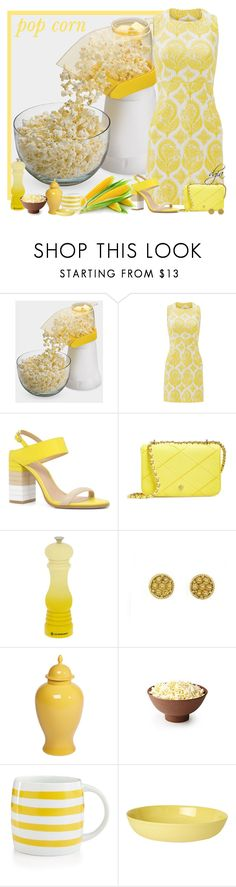 """POP CORN"" by dgia ❤ liked on Polyvore featuring Diane Von Furstenberg, ALDO, Tory Burch, Le Creuset, Ethan Allen, Martha Stewart and Mud Australia"