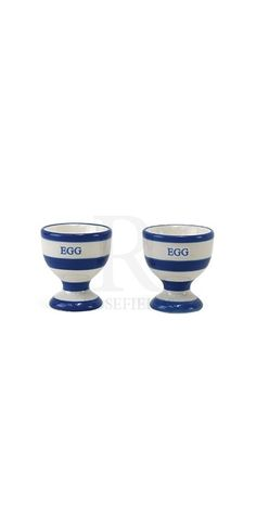 Blue Band Egg Cups @ rosefields.co.uk