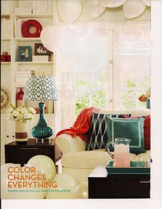 Pretty Pillows And Turquoise Accessories Red Home Decor Goods Living Room