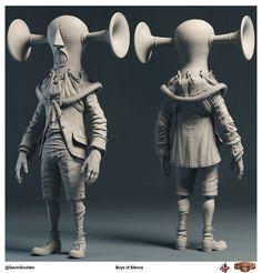 Bioshock Infinite 3d Characters by Gavin Gouiden