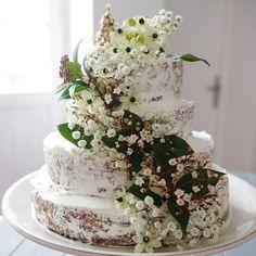 Recette d'un Naked cake Fleuri façon pièce montée - Nake cake recipe for a weddding cake/  Marie Claire Idées