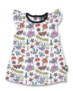 Six Bunnies Baby CUTE FLASH Kleid.Tattoo,Biker,Rockabilly,Custom,Clothing Style