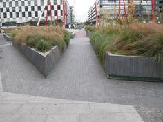 Grand Canal Square, Dublin, Ireland - Concrete Planters