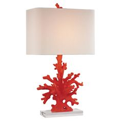 Dimond Lighting Coral Table Lamp 16 X 16 X 28 Red Coral * Check This  Awesome Product By Going To The Link At The Image. (This Is An Affiliate  Link And I ...