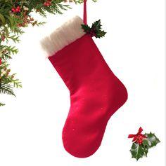 Red Santa Sparkling Stocking Christmas by atonydesignbytony