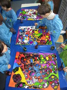 ça va boucler à la rentrée en MS !!!! Kindergarten, Small Study, Ecole Art, Arts Ed, Art Drawings Sketches, Art School, Art Lessons, Art For Kids, Picnic Blanket