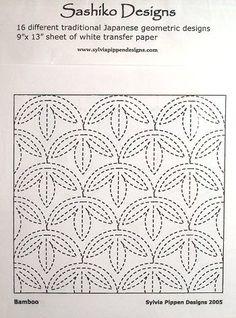 Sashiko Designs and Transfer Paper