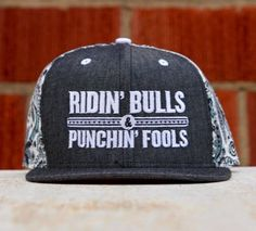 a60e176f844 Dale Brisby Ridin Bulls   Punchin Fools Snap back. One size fits all