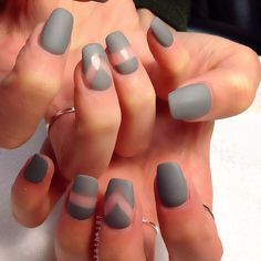 Matted grey w/ negative space ღ By Riyathai87 on Instagram