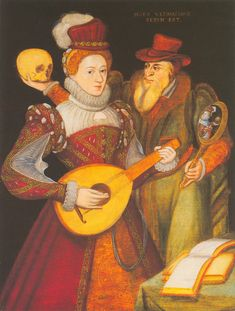 c1570 - English School - Death & the Maiden Fabulous huge version. This was in the Weiss Gallery a few years ago and is in one of their catalogues. Artist Unknown.