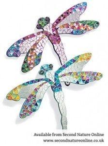 mosaic dragonfly mirror