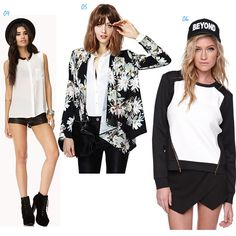 Black and white fashio item collection