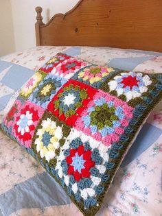 Summer Garden Granny Cushion