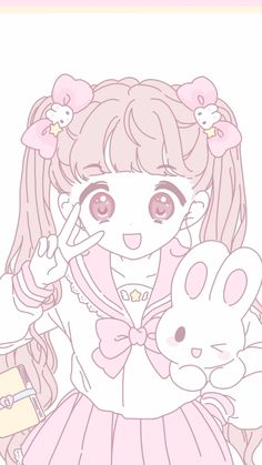 @sᴜᴅᴇɴᴀᴢᴇʀᴋɪɴ Kawaii Chibi, Kawaii Anime Girl, Kawaii Art, Anime Chibi, Manga Anime, Anime Girl Pink, Anime Art Girl, Anime Girls, Iphone Wallpaper Kawaii