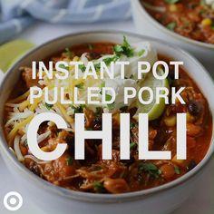 Pork Chili Recipe, Chili Recipes, Pork Recipes, Cooking Recipes, Healthy Recipes, Best Instant Pot Recipe, Instant Pot Dinner Recipes, Instant Pot Pressure Cooker, Soups