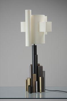 POUENAT FERRONIER Babylone Lamp, table lamp @jeanlouisdeniot                                                                                                                                                                                 More