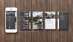 BMW app concept Navigation Inspiration for Mobile UI Mobile Application Design, Mobile Ui Design, Conception D'applications, Iphone Ui, Web Design, Ui Design Inspiration, Design Ideas, Presentation Layout, Apps
