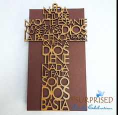 CRUZ NADA te TURBE. 10 1/2 laser cut wooden cross by GetSurprised