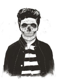 """""""Death fashion"""" Art Print by Balázs Solti on Society6."""