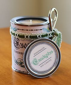 DIY:: Soy Candles- Cost about a Dollar & You use Recycled Cans ! Amazing !