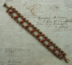 Linda's Crafty Inspirations: Bracelet of the Day: Ivy Bracelet - Coral Bronze