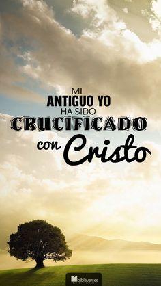 Downloads are available at  http://ibibleverses.christianpost.com/?p=19546  He sido crucificado con Cristo, y ya no vivo yo sino que Cristo vive en mí. Lo que ahora vivo en el cuerpo, lo vivo por la fe en el Hijo de Dios, quien me amó y dio su vida por mí. -Gálatas 2:20  #Gálatas #crucificado #Cristo