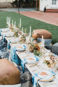 This Bohemian Dinner Party is Pairing Cocktails With S'mores Intimate Boho Dinner Party Under the Stars<br> No chairs needed for this boho celebration. Outdoor Dinner Parties, Dinner Party Table, Outdoor Entertaining, Dinner Party Decorations, Garden Parties, Brunch Party, Party Fun, Prom Party, Tea Party