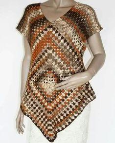 Poncho sweater pattern by Addi