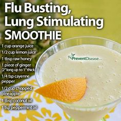 World View Nutrition Flu Busting, Lung Stimulating Smoothie – Healthy Holistic LivingHealthy Holistic Living Healthy Juice Recipes, Healthy Juices, Healthy Smoothies, Healthy Drinks, Smoothie Recipes, Cleanse Recipes, Smoothie Diet, Stay Healthy, Healthy Life