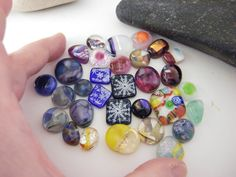 pretty glass pieces for jewelry making
