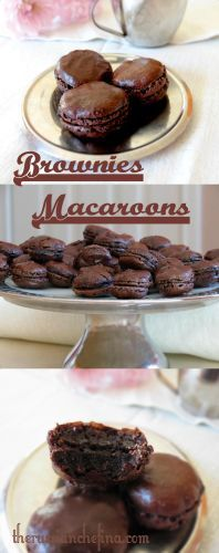 Brownie Macaroon This dessert has rich chocolate and brandy flavor, and a chewy and crunchy texture.