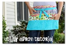 Add a zip pocket Utility Apron Tutorial ~ Sugar Bee Crafts Great for vendors, teachers, crafters, etc. Lots of pockets and lots of cute. I will be making at least a couple of these for the craft booth. Sewing Hacks, Sewing Tutorials, Sewing Crafts, Sewing Projects, Sewing Ideas, Sewing Patterns, Fair Projects, Sewing Diy, Apron Pattern Free