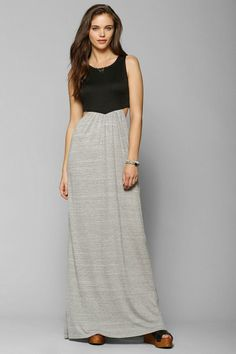 Sparkle & Fade Open-Side Colorblock Maxi Dress #urbanoutfitters