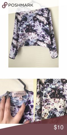 Philosophy printed blouse Size medium. Silk material. Multicolored. Philosophy Tops Blouses
