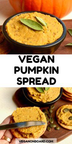 This savory dip has pumpkin and lentils for a tasty fall flavor. It makes a rich and delicious fall spread. We love this vegan pumpkin pâté on toast or crackers. Pumpkin Dip, Pumpkin Hummus, Pumpkin Curry, Vegan Pumpkin, Lentil Recipes, Veggie Recipes, Pate On Toast, Crackers