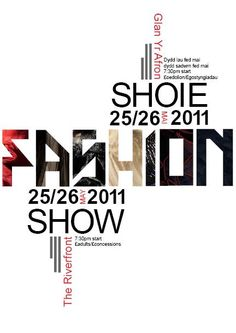 Love the typography in the #fashionshow #poster.  #art