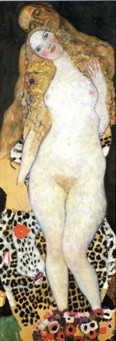 Klimt. Adam and Eve