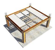 Lajes Nervuradas Tuper Building Systems, Table, Furniture, Home Decor, Metal Structure, Reinforced Concrete, Decoration Home, Room Decor, Tables