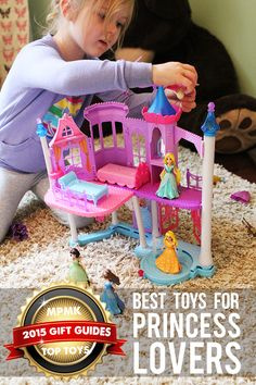 Best princess and castle toys (including Frozen stuff) arranged by age - part of 10 gift guides with amazingly detailed reviews!