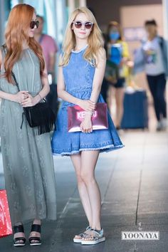 Find images and videos about snsd, girls generation and yoona on We Heart It - the app to get lost in what you love. Snsd Fashion, Girl Fashion, Fashion Outfits, Fashion Ideas, Seohyun, Japanese Fashion, Asian Fashion, Korean Airport Fashion, Weekly Outfits