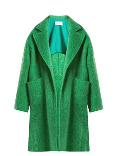 Click here to buy Raey Dropped-shoulder wool-blend blanket coat at MATCHESFASHION.COM