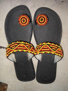 Beautiful leather  hand made maasai sandals