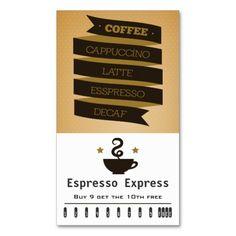 Coffee Customer Reciation Punch Card Punchloyalty Cardscustomer